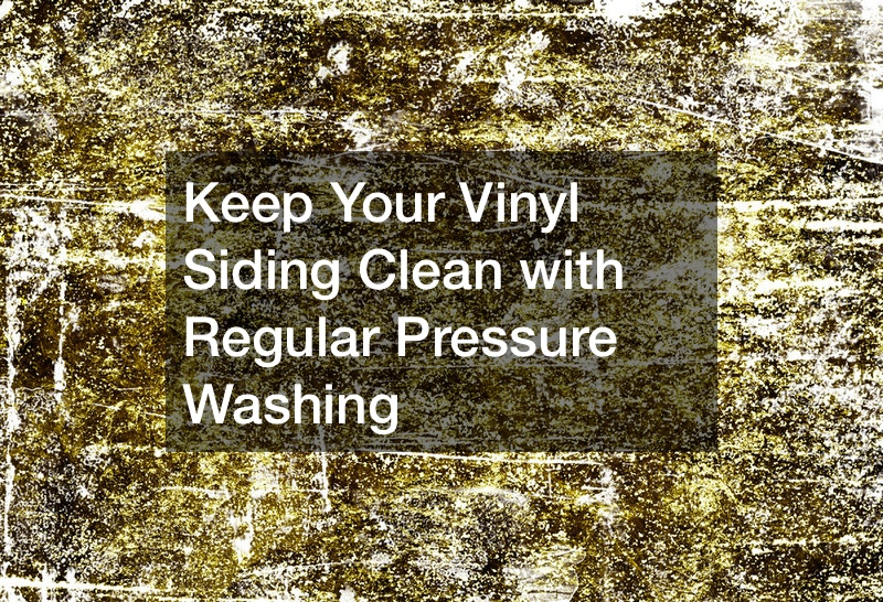 Keep Your Vinyl Siding Clean With Regular Pressure Washing