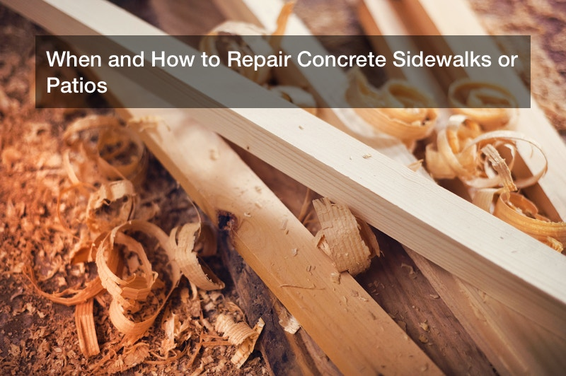 When and How to Repair Concrete Sidewalks or Patios
