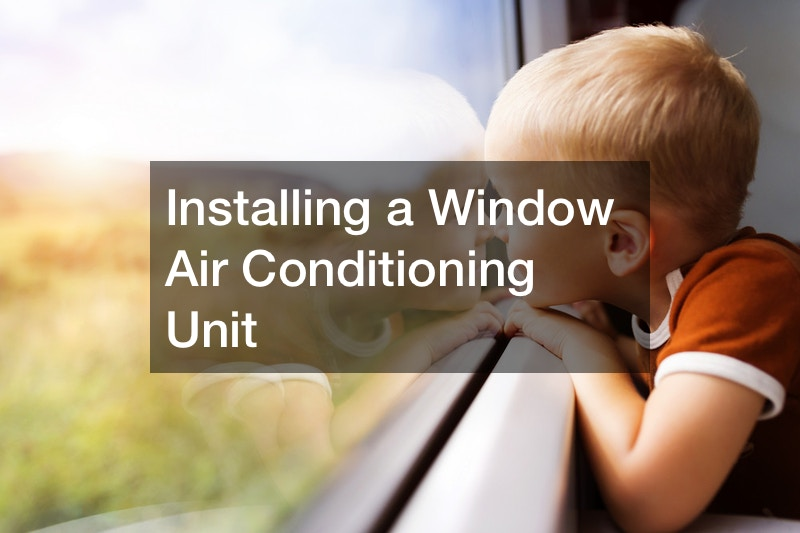 Installing a Window Air Conditioning Unit